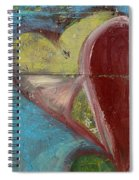 Heart Shape Painted On A Wall, Safed Spiral Notebook