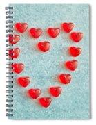 Heart Shape Spiral Notebook