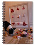 Hearts On The Line Spiral Notebook