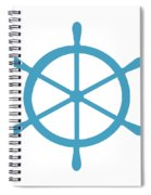 Helm In White And Turquoise Blue Spiral Notebook