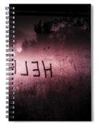Help Written On A Misty Glass Window. No Escape Spiral Notebook