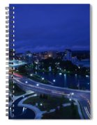 High Angle View Of A City, Big Spring Spiral Notebook