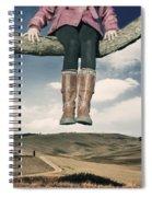 High Over The World Spiral Notebook