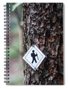 Hiking Trail Sign On The Forest Paths Spiral Notebook