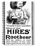 Hires' Root Beer Ad, 1895 Spiral Notebook