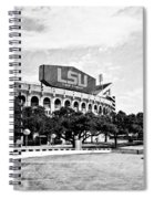 Home Field Advantage - Bw Texture Spiral Notebook