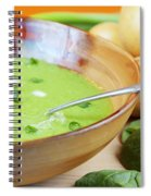 Homemade Potato And Spinach Soup Spiral Notebook