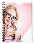 Hopeless Romantic Girl Showing Signs Of Love Spiral Notebook