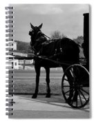 Horse And Buggy And Farm Spiral Notebook