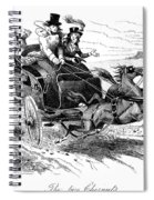 Horse-drawn Carriage Spiral Notebook