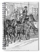 Horse-drawn Coach Spiral Notebook
