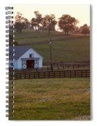 Horse Farm Sunset Spiral Notebook