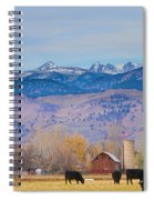 Hot Air Balloon Rocky Mountain County View Spiral Notebook