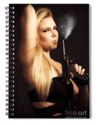 Hot Shot Woman Spiral Notebook