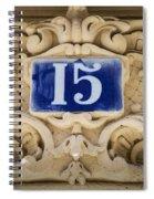 Building Number - Paris Spiral Notebook