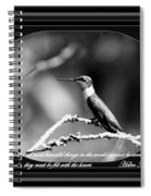 Hummingbird Spiral Notebook