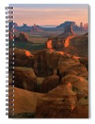 Hunts Mesa In Monument Valley Spiral Notebook