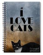 I Love Cats Spiral Notebook