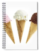 Ice Cream In Sugar Cones Spiral Notebook