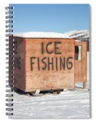 Ice Fishing Hut Spiral Notebook