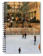 Ice Skating In New York City Spiral Notebook