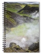 Iceland Steam Valley Spiral Notebook