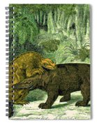Iguanodon Biting Megalosaurus Spiral Notebook