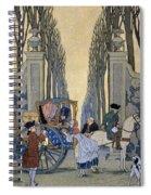 Illustration From 'les Liaisons Dangereuses'  Spiral Notebook