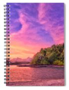 Indian Ocean Sunset Spiral Notebook
