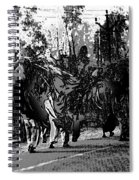 Indian Women Carrying Heavy Loads Along The Highway Spiral Notebook