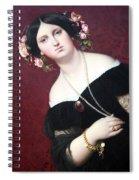 Ingres' Madame Moitessier Abstract Spiral Notebook