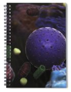 Inner Workings Of A Human Cell Spiral Notebook