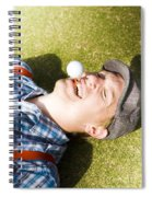 Insane Sport Nut Crazy About Golf Spiral Notebook