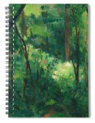 Interior Of A Forest Spiral Notebook