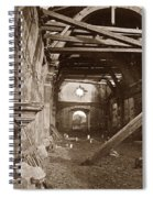 Interior Of Old Mission Church At Carmel Mission California  Circa 1880 Spiral Notebook