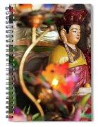 Interiors Of Vihn Trang Pagoda, My Tho Spiral Notebook