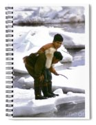 Inuit Boys Ice Fishing Barrow Alaska July 1969 Spiral Notebook