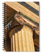 Ionic Volute Bw Spiral Notebook