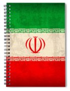 Iran Flag Vintage Distressed Finish Spiral Notebook