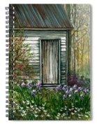 Iris By Barn Spiral Notebook