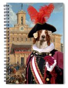 Irish Red And White Setter Art Canvas Print Spiral Notebook