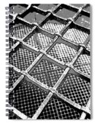 Iron Protection On Mesh Covered Well Inside Edinburgh Castle Spiral Notebook