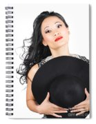 Isolated Beauty Portrait. Womens Hats And Headwear Spiral Notebook