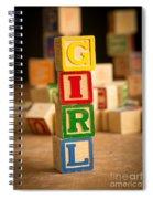 Its A Girl - Alphabet Blocks Spiral Notebook