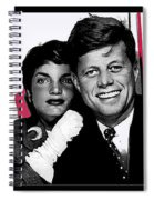 Jackie And Jack Kennedy In A Photo Booth Snap No Known Location 1953-2013 Spiral Notebook