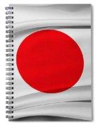 Japanese Flag Spiral Notebook