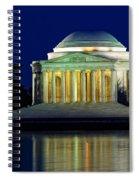 Jefferson Memorial At Night Spiral Notebook
