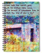 1 John 3 17 Spiral Notebook