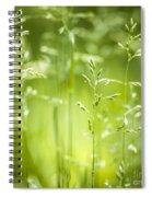 June Green Grass Flowering Spiral Notebook