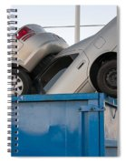 Junk Cars In Dumpster Cash For Clunkers Spiral Notebook